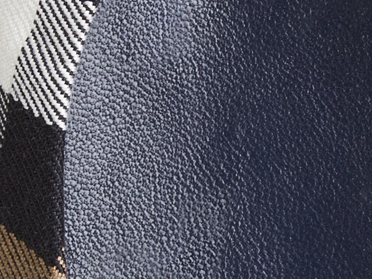 Azul tinta Bailarinas de checks House con detalle en cuero ecuestre Azul Tinta - cell image 1
