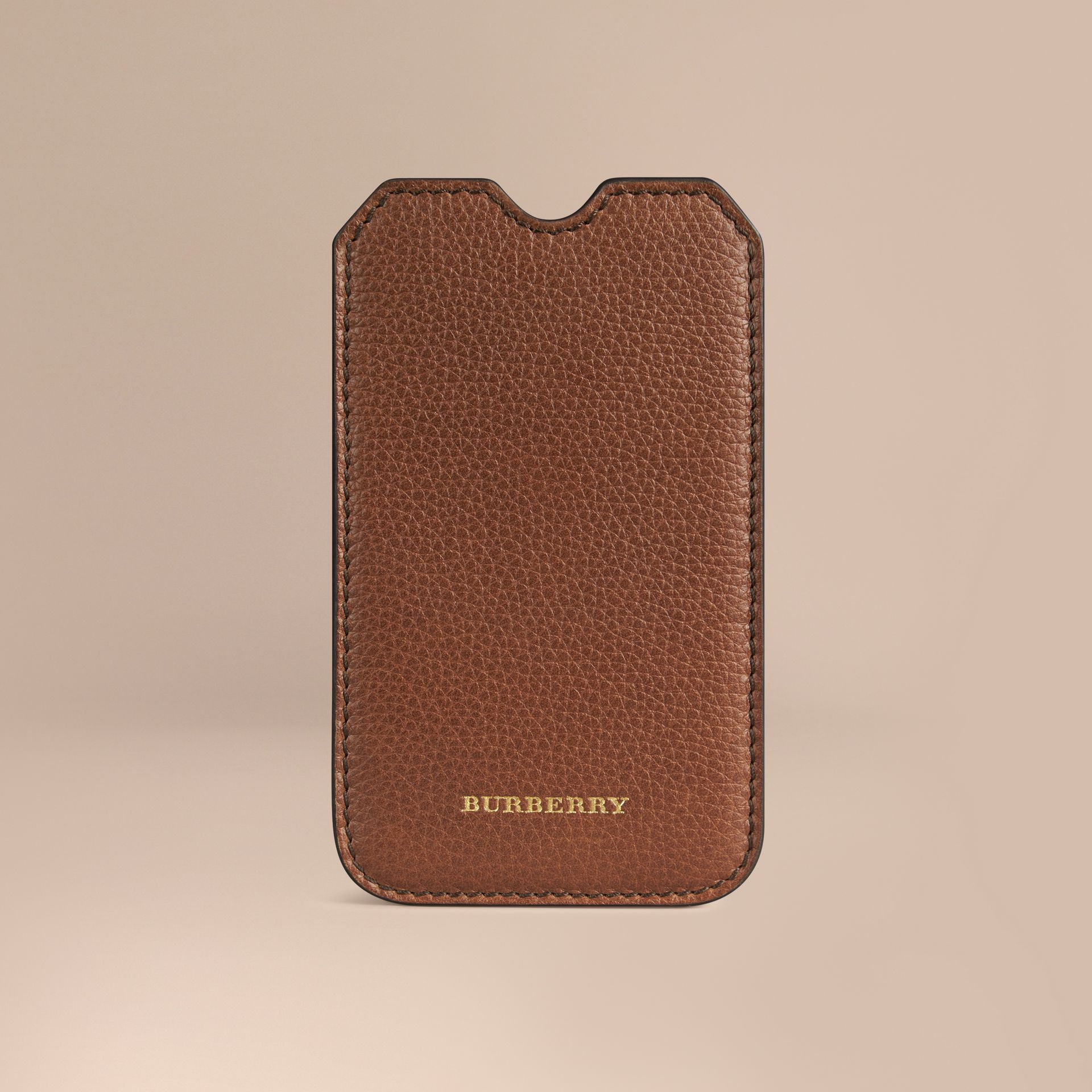 Grainy Leather iPhone 5/5S Case in Tan | Burberry - gallery image 1