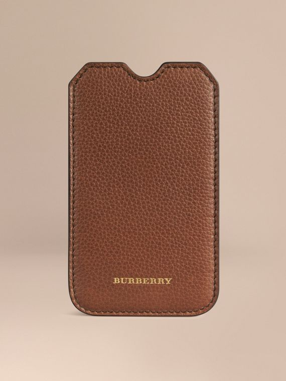 Grainy Leather iPhone 5/5S Case Tan