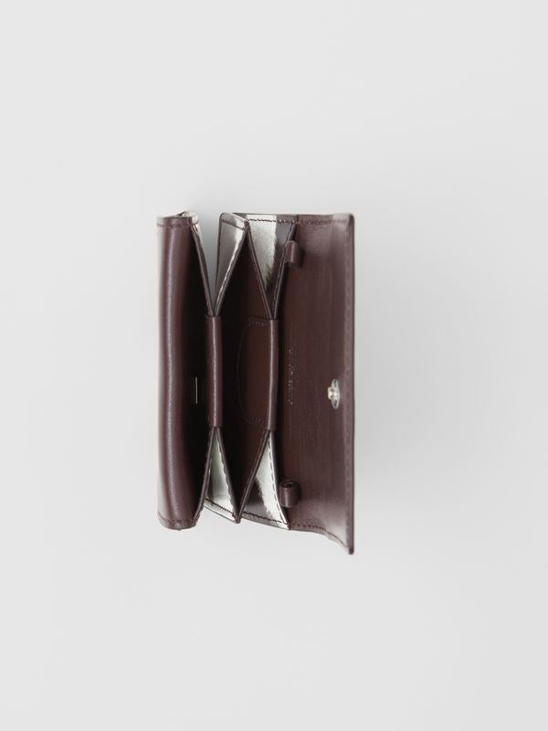 Cow Print Leather Card Case with Detachable Strap in Mahogany - Women | Burberry United Kingdom - cell image 3