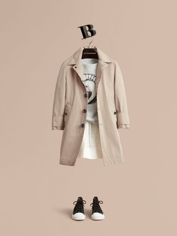 Tropical Gabardine Car Coat