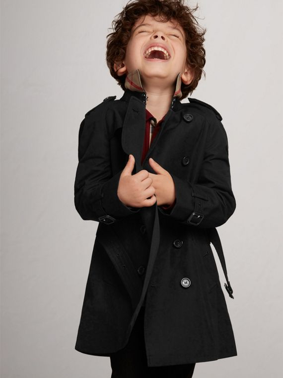 The Wiltshire – Heritage Trench Coat in Black - Boy | Burberry - cell image 2