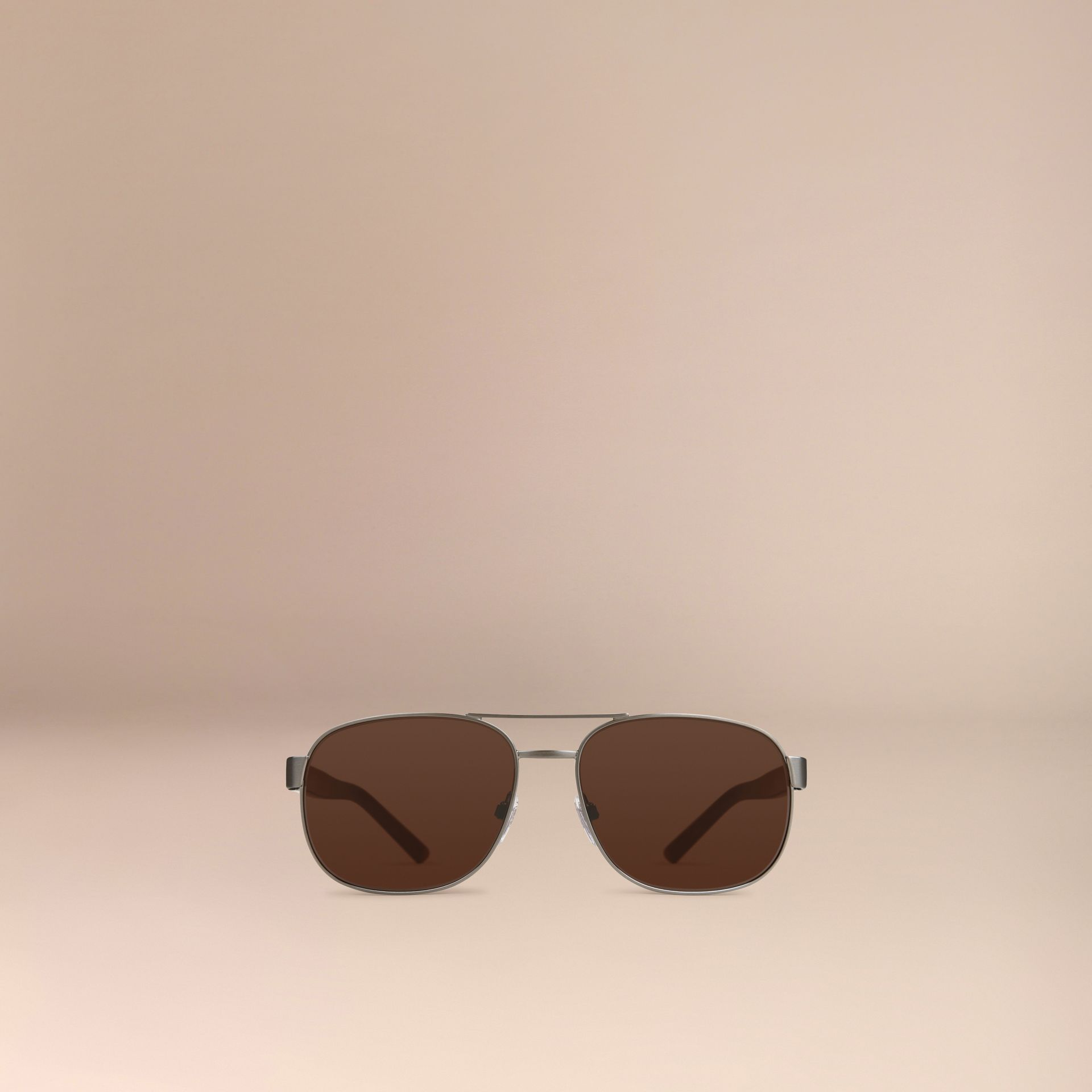 Brown Square Frame Aviator Sunglasses Brown - gallery image 2