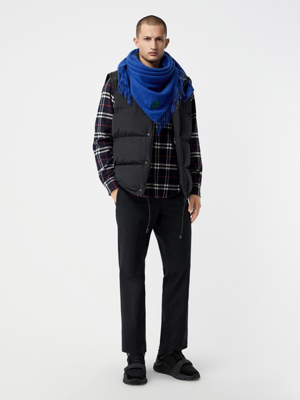 The Burberry Bandana in Embroidered Cashmere in Cadet Blue | Burberry United States - cell image 3