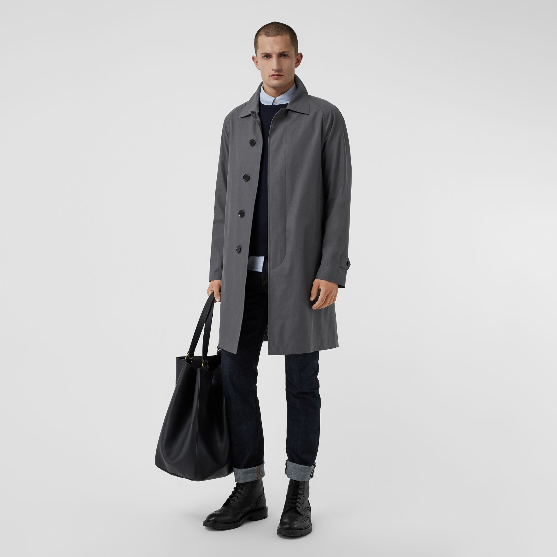 The Camden Car Coat in Mid Grey - Men | Burberry - gallery image 0