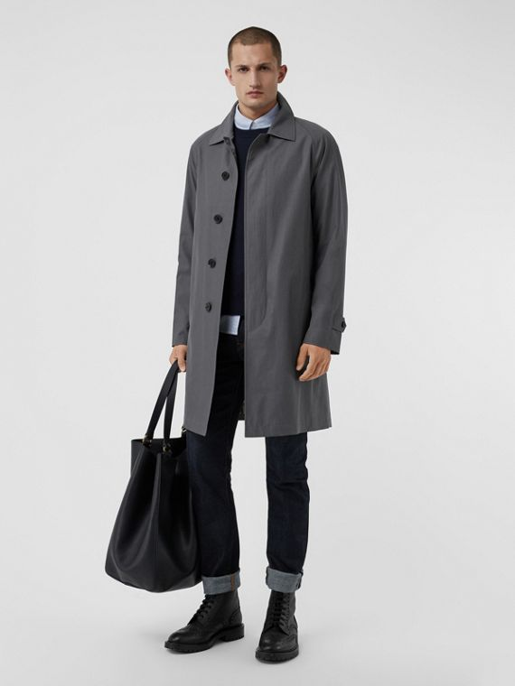 The Camden Car Coat in Mid Grey