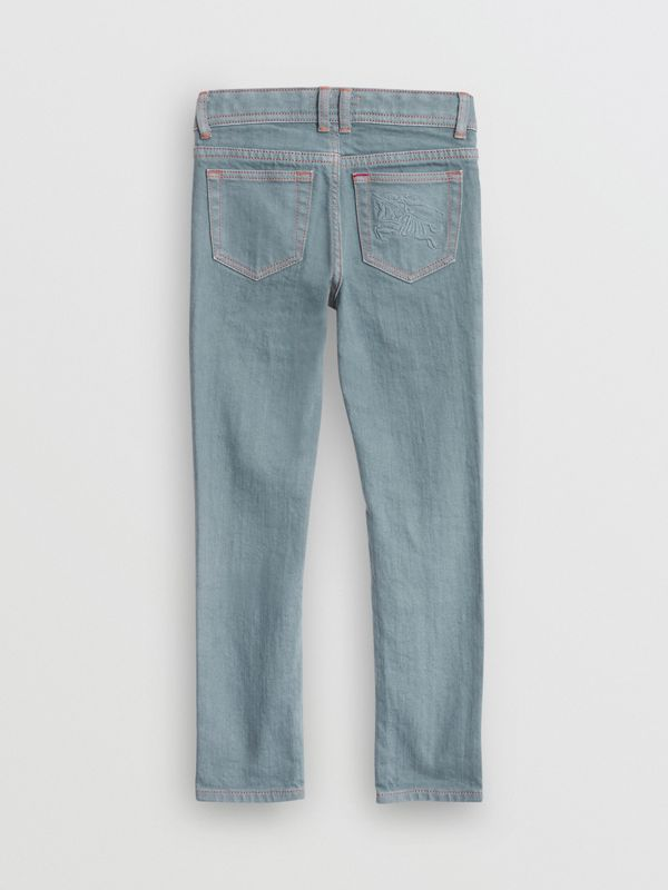 Skinny Fit Stretch Jeans in Dusty Blue | Burberry - cell image 3