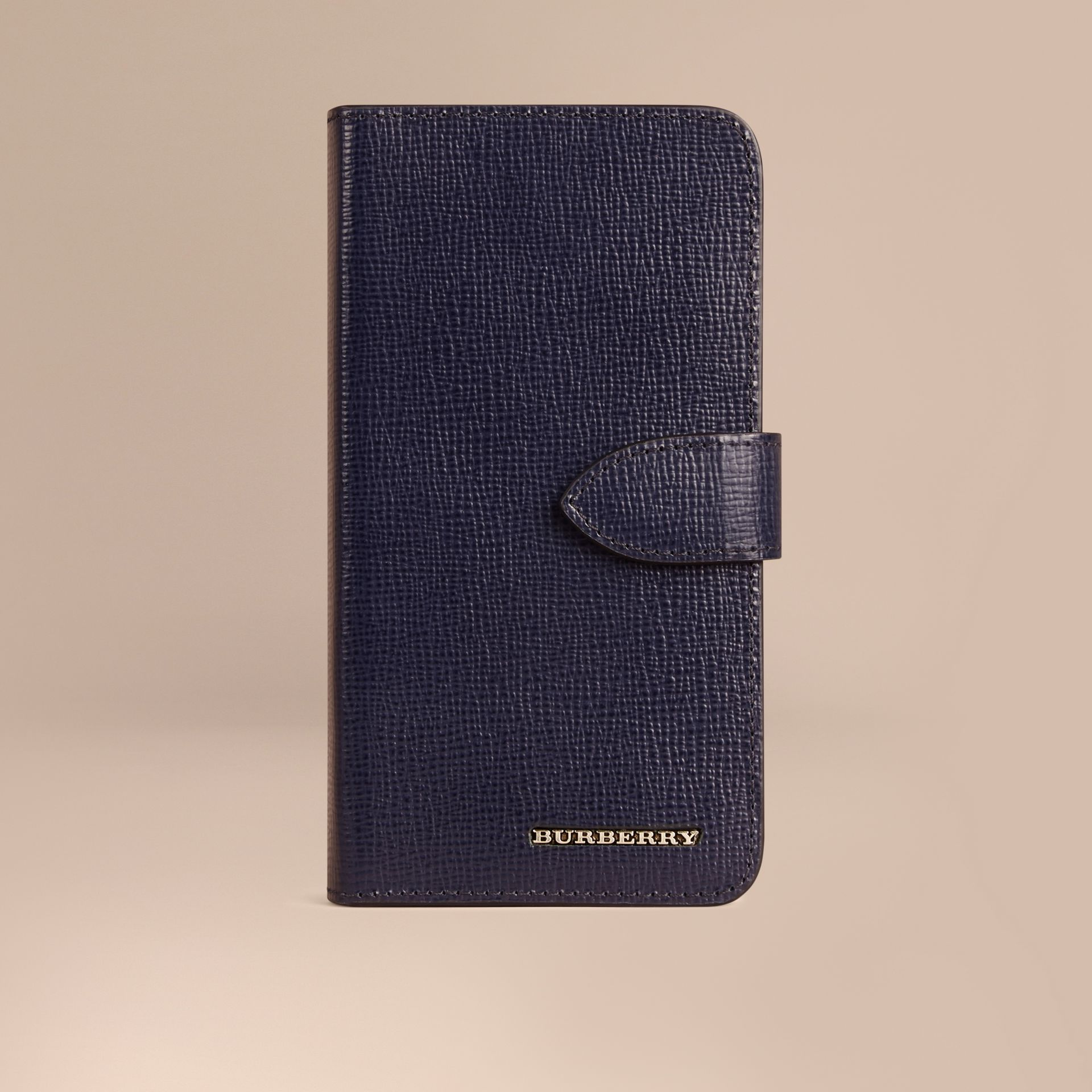 Navy scuro Custodia a libro in pelle London per iPhone 6 Navy Scuro - immagine della galleria 1