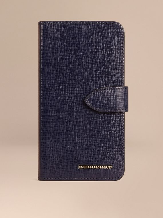 Custodia a libro in pelle London per iPhone 6 Navy Scuro
