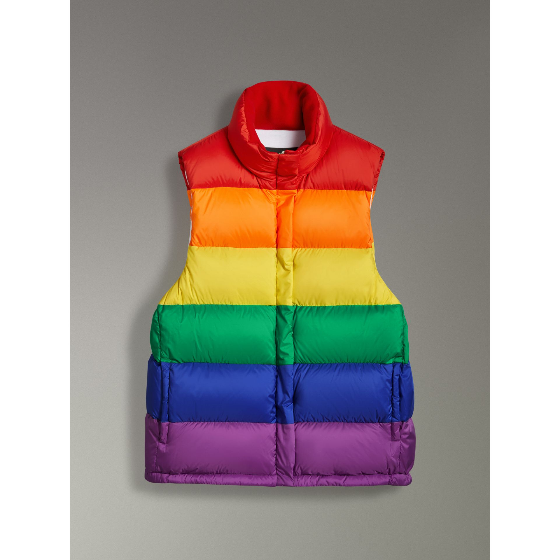 Rainbow Down-filled Gilet in Multicolour - Women | Burberry - gallery image 3