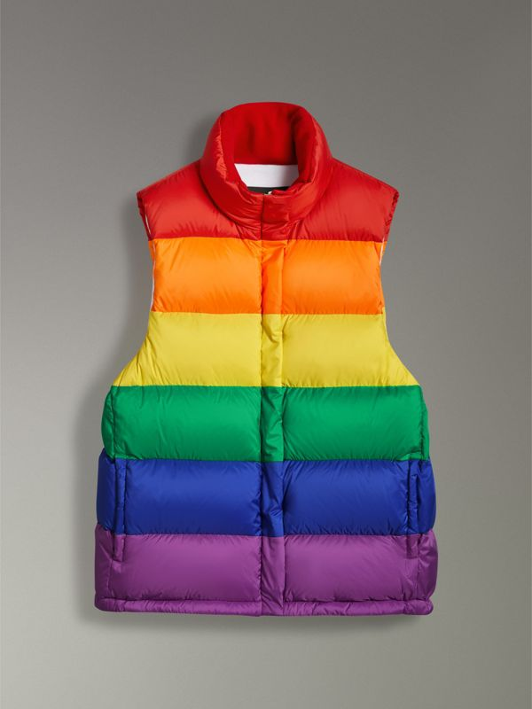 Rainbow Down-filled Gilet in Multicolour - Women | Burberry - cell image 3