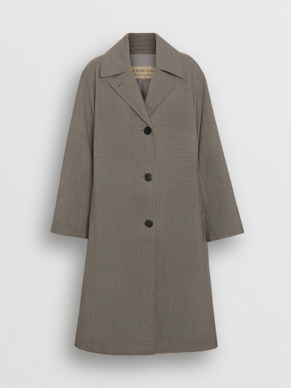 Check Wool Oversized Coat in Taupe - Women | Burberry Australia - cell image 3