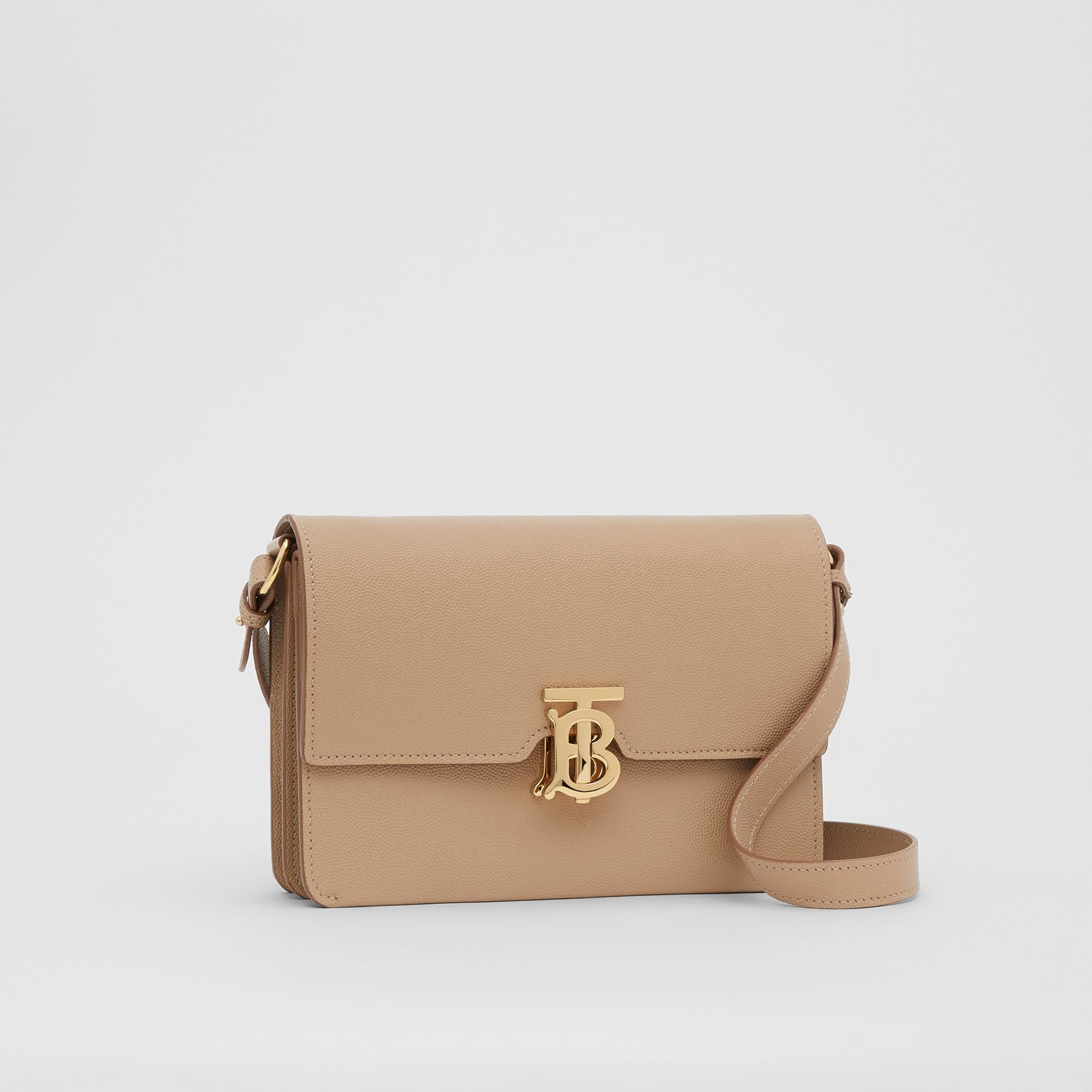 Small Monogram Motif Leather Crossbody Bag in Archive Beige - Women | Burberry - gallery image 4