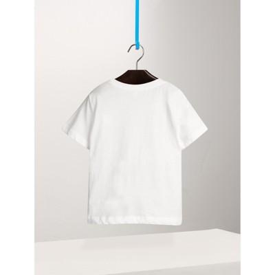 Burberry - T-shirt en coton avec poche à motif check - 3