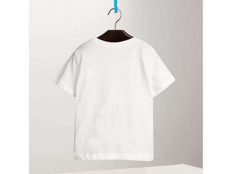 Check Pocket Cotton T-shirt in White - Boy | Burberry - cell image 2