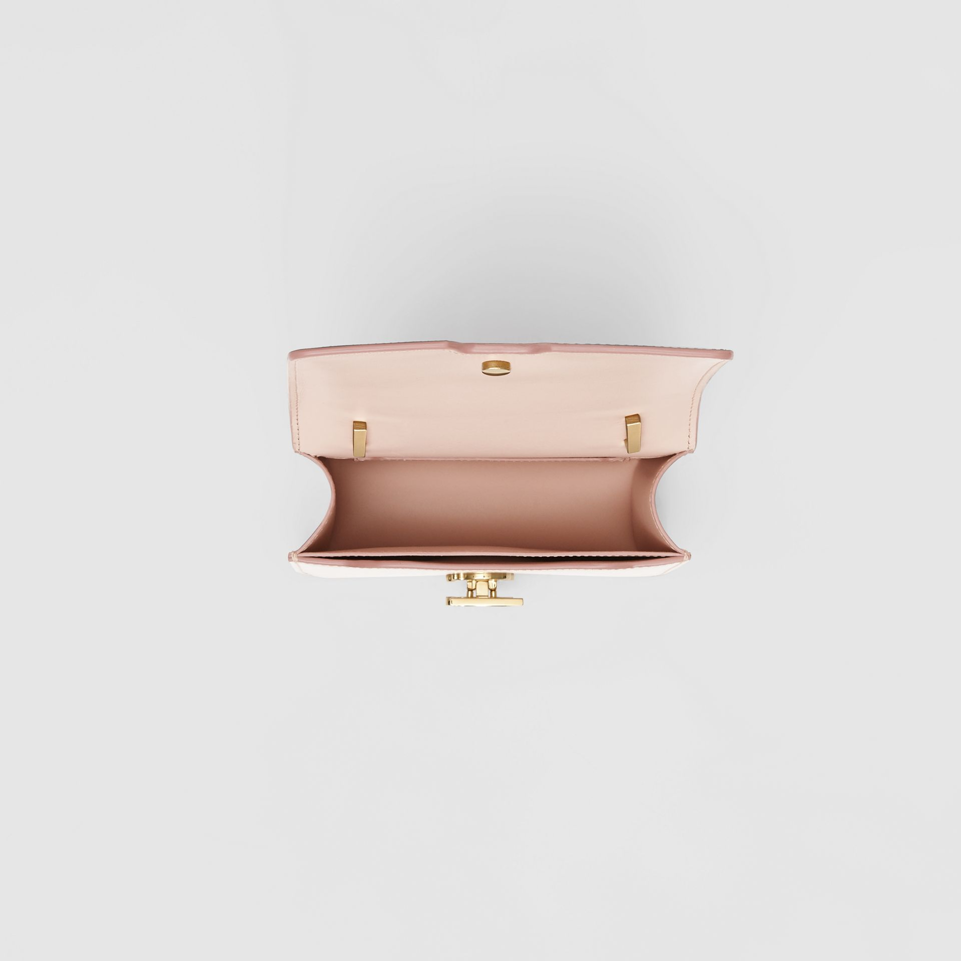 Mini Leather TB Bag in Rose Beige - Women | Burberry - gallery image 4