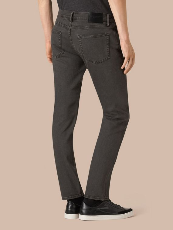 Black Slim Fit Stretch Japanese Denim Jeans - cell image 2