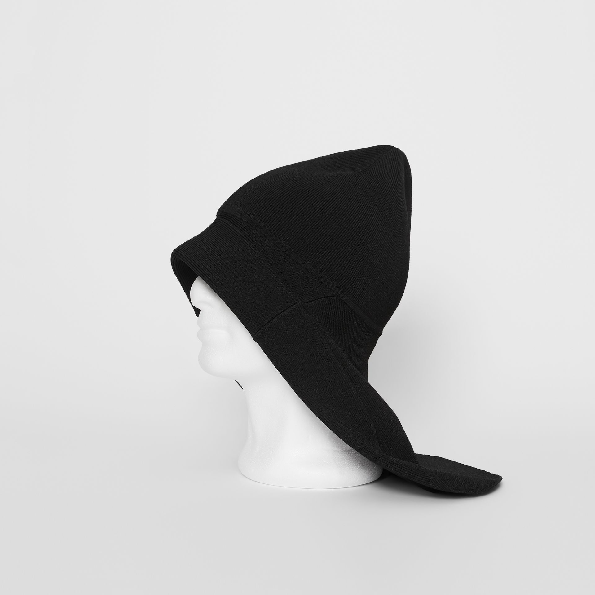 Logo Print Jersey Fisherman Hat in Black | Burberry - gallery image 0