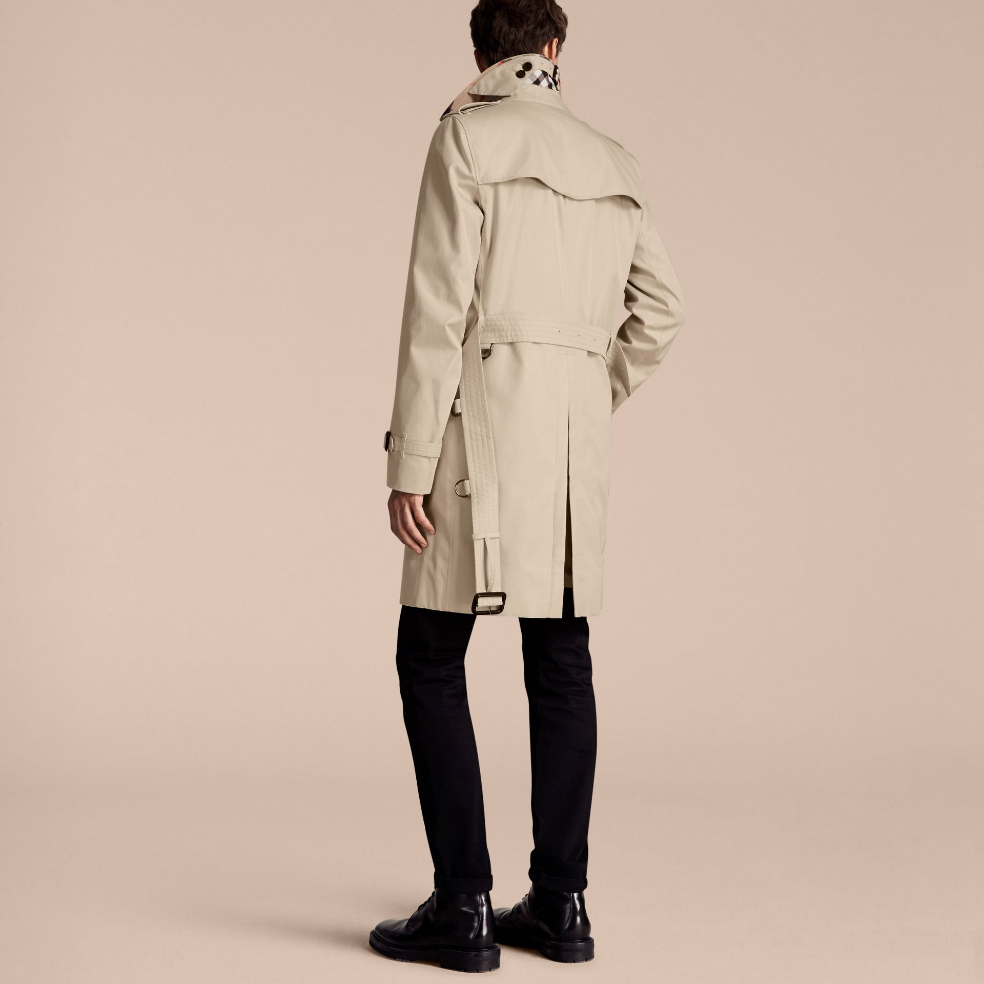 Stone The Kensington – Long Heritage Trench Coat Stone - gallery image 3