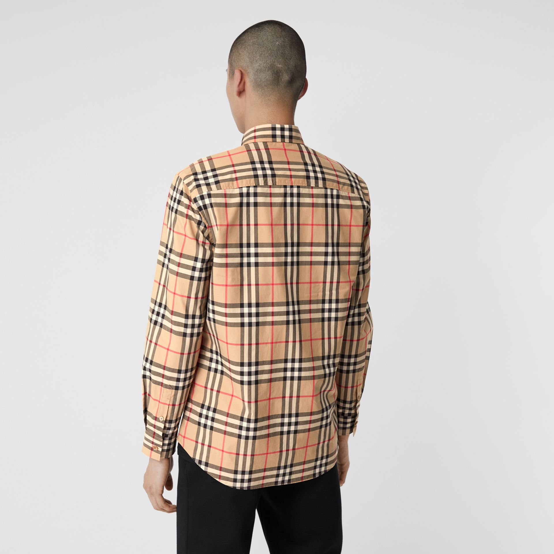 Vintage Check Cotton Poplin Shirt in Archive Beige - Men | Burberry - gallery image 2