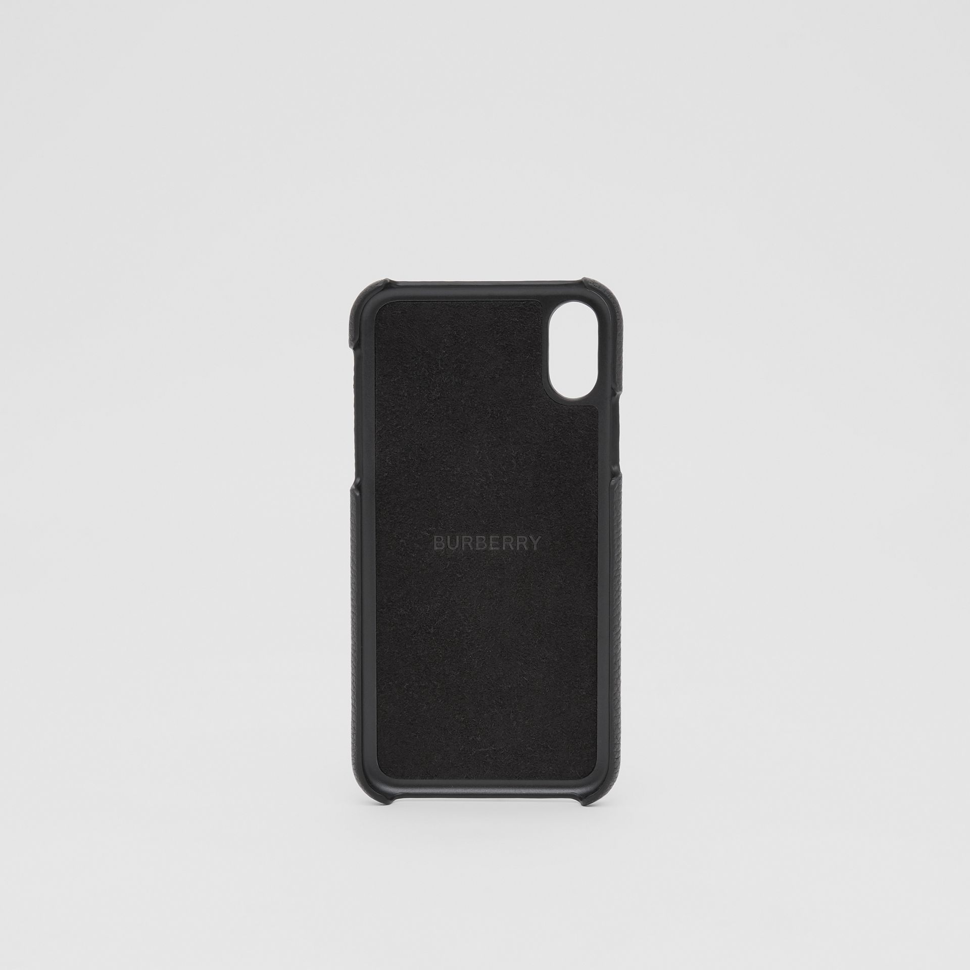 Contrast Logo Graphic Leather iPhone X/XS Case in Black | Burberry - gallery image 3