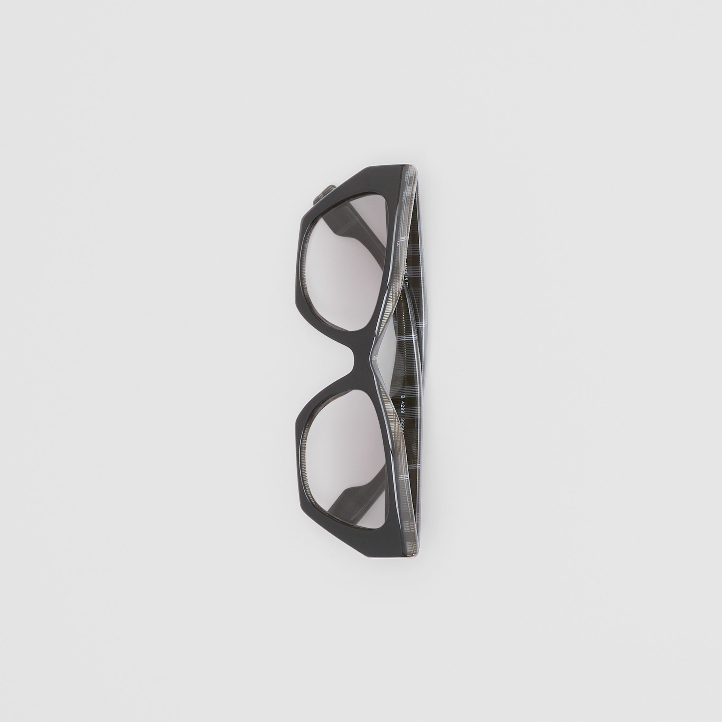 Butterfly Frame Sunglasses in Transparent Dark Grey - Women | Burberry United Kingdom - 3