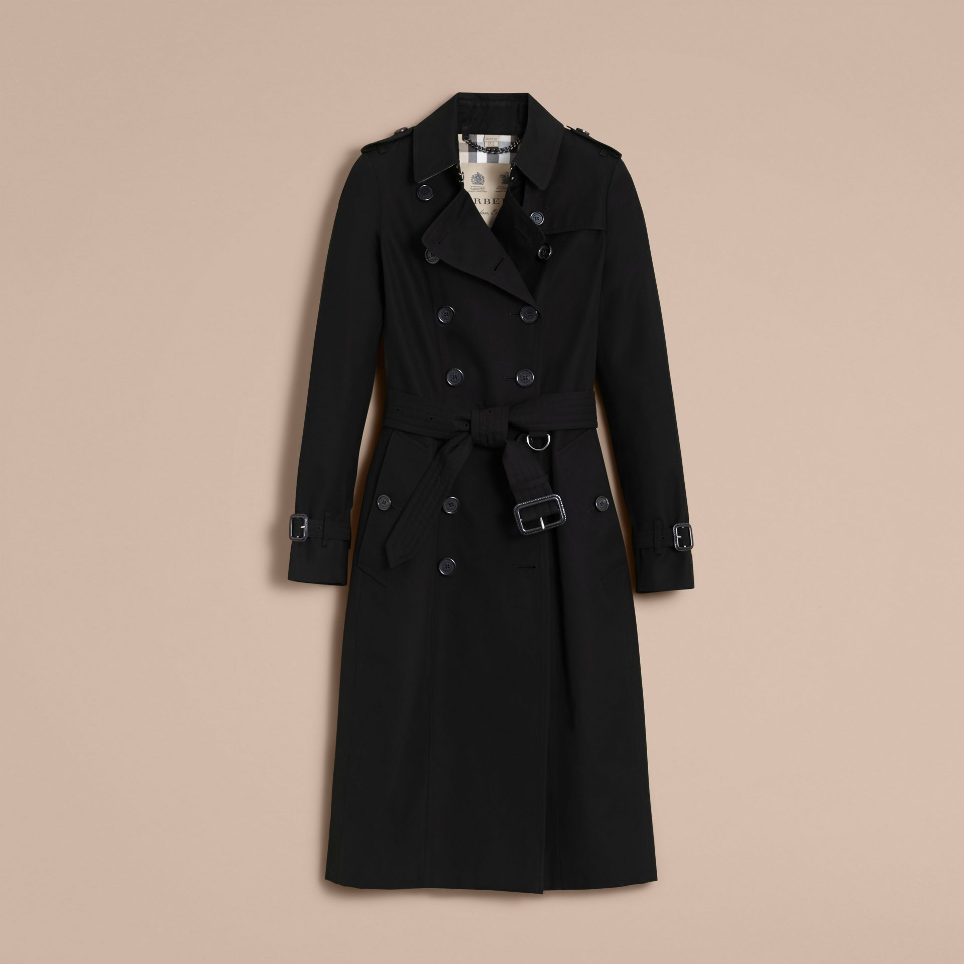 The Chelsea – Trench Heritage extra-long (Noir) - Femme | Burberry - photo de la galerie 4