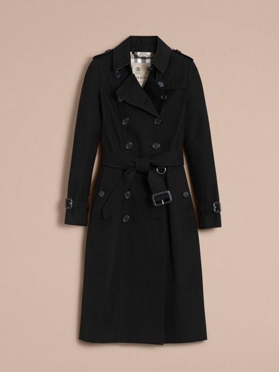 The Chelsea – Extra-long Heritage Trench Coat in Black - cell image 3