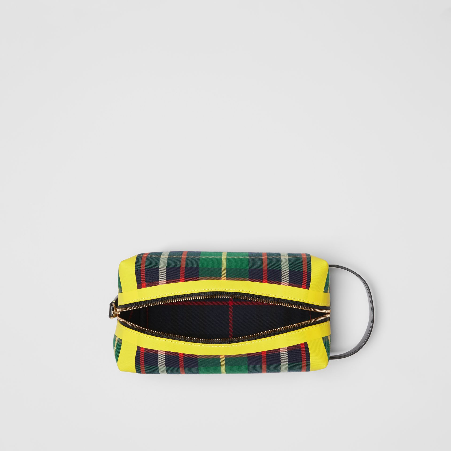 Tartan Cotton Pouch in Forest Green | Burberry - gallery image 5