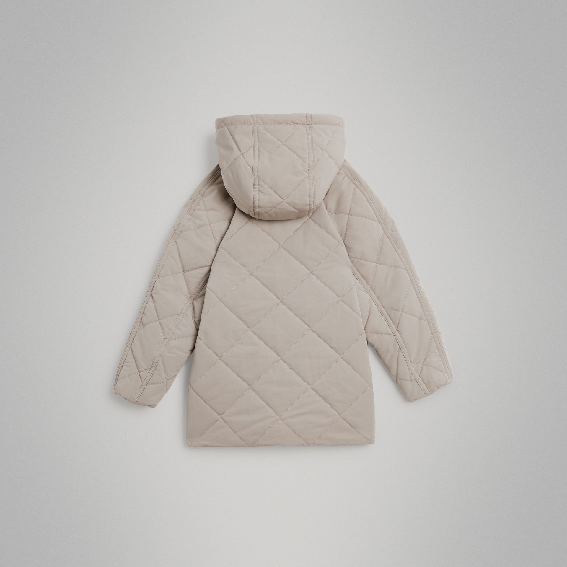 Diamond Quilted Hooded Jacket in Taupe | Burberry Australia - gallery image 3