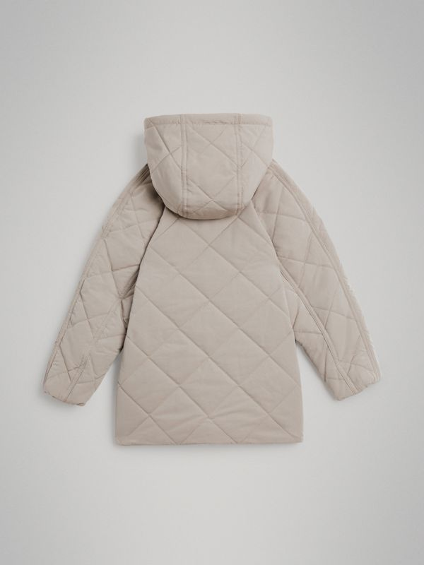 Diamond Quilted Hooded Jacket in Taupe | Burberry Australia - cell image 3