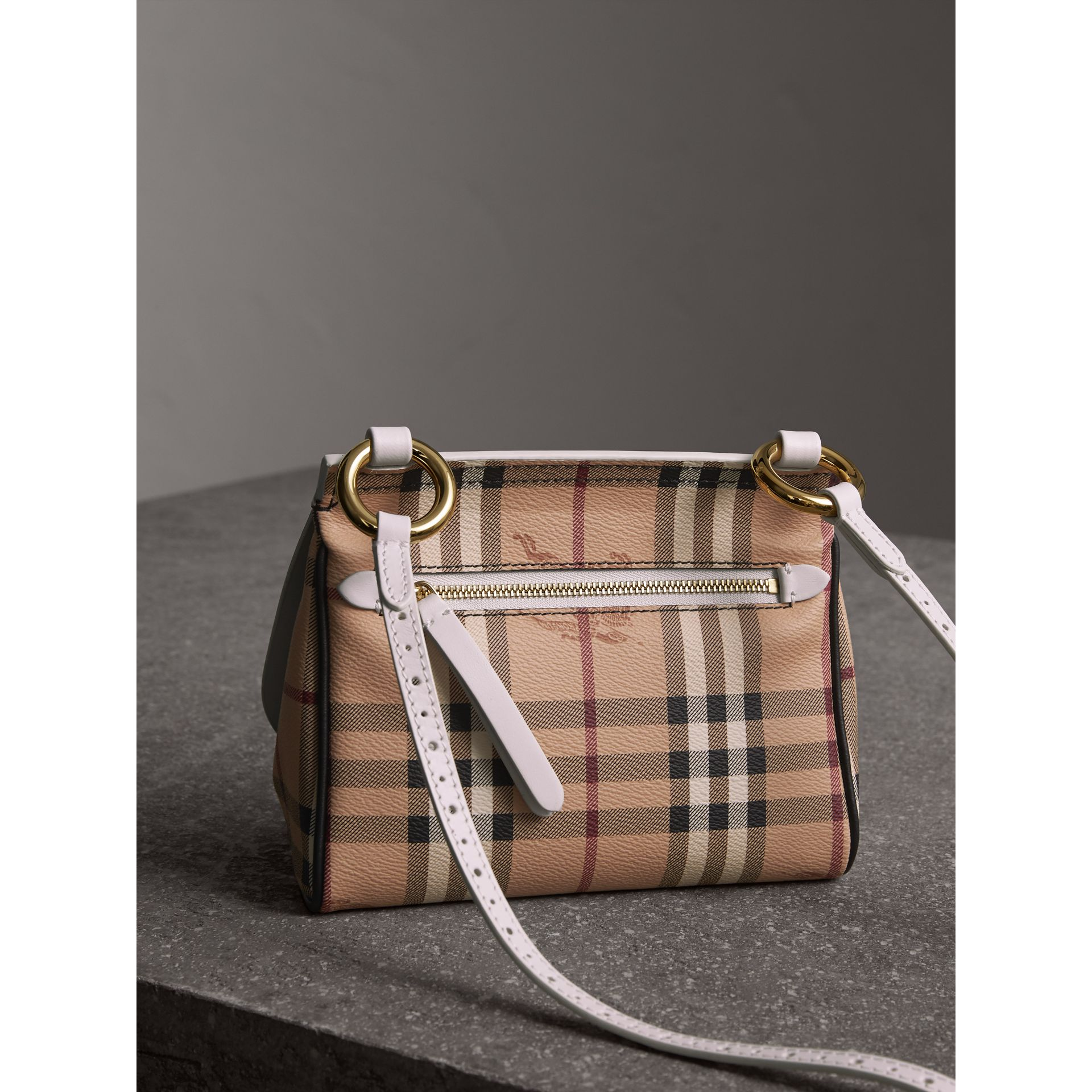 The Baby Bridle Bag in Leather and Haymarket Check in Natural - Women | Burberry Canada - gallery image 5