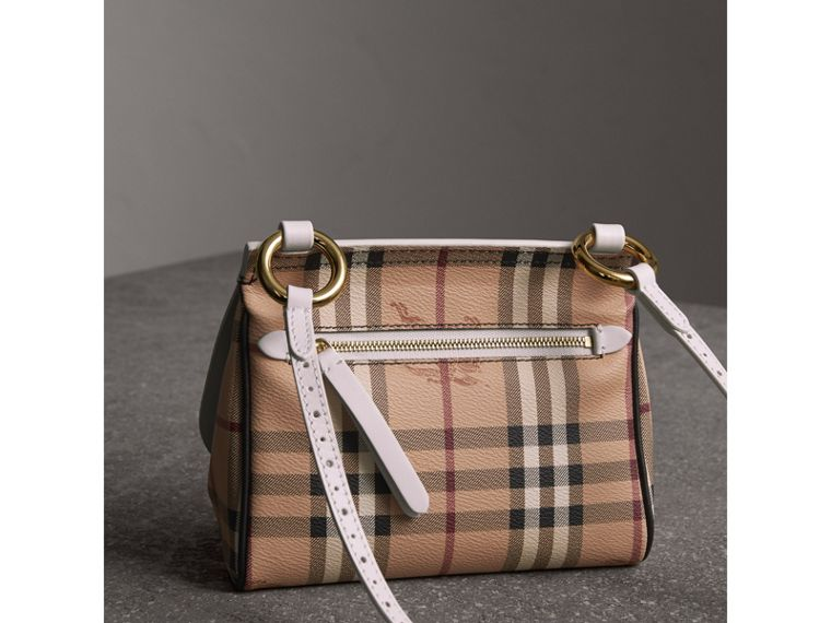 The Baby Bridle Bag in Leather and Haymarket Check in Natural - Women | Burberry - cell image 4
