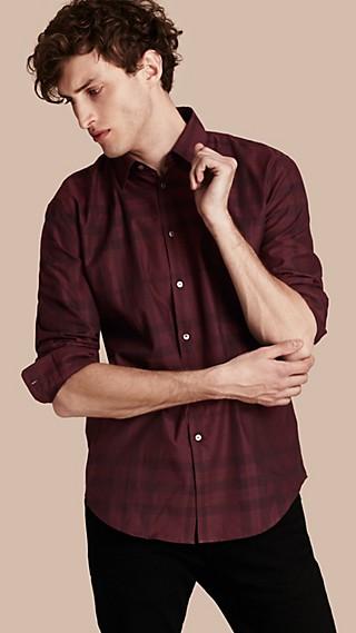 Check Cotton Flannel Shirt