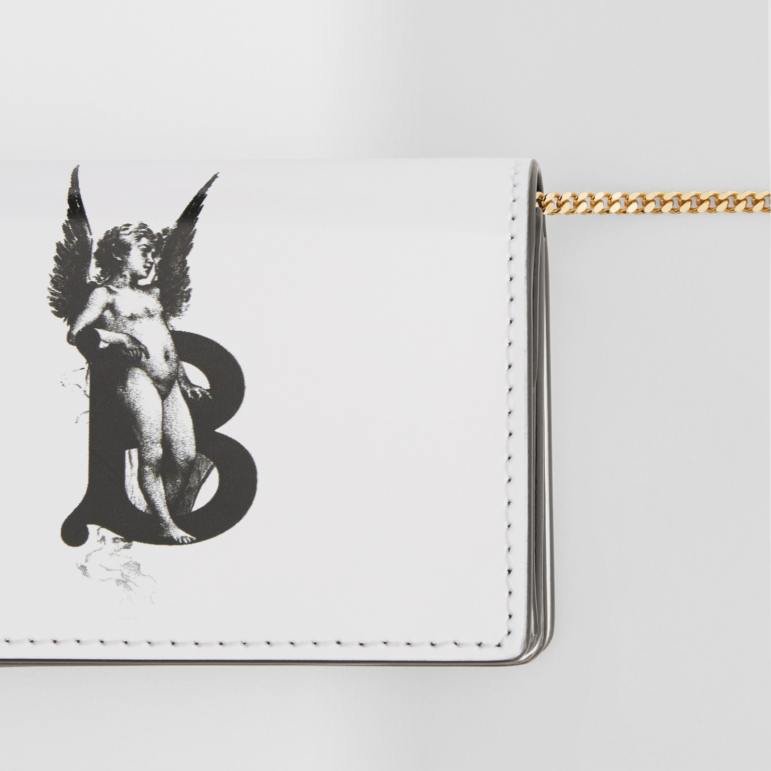 Cherub Print Card Case with Detachable Strap in White | Burberry Hong Kong S.A.R - 2