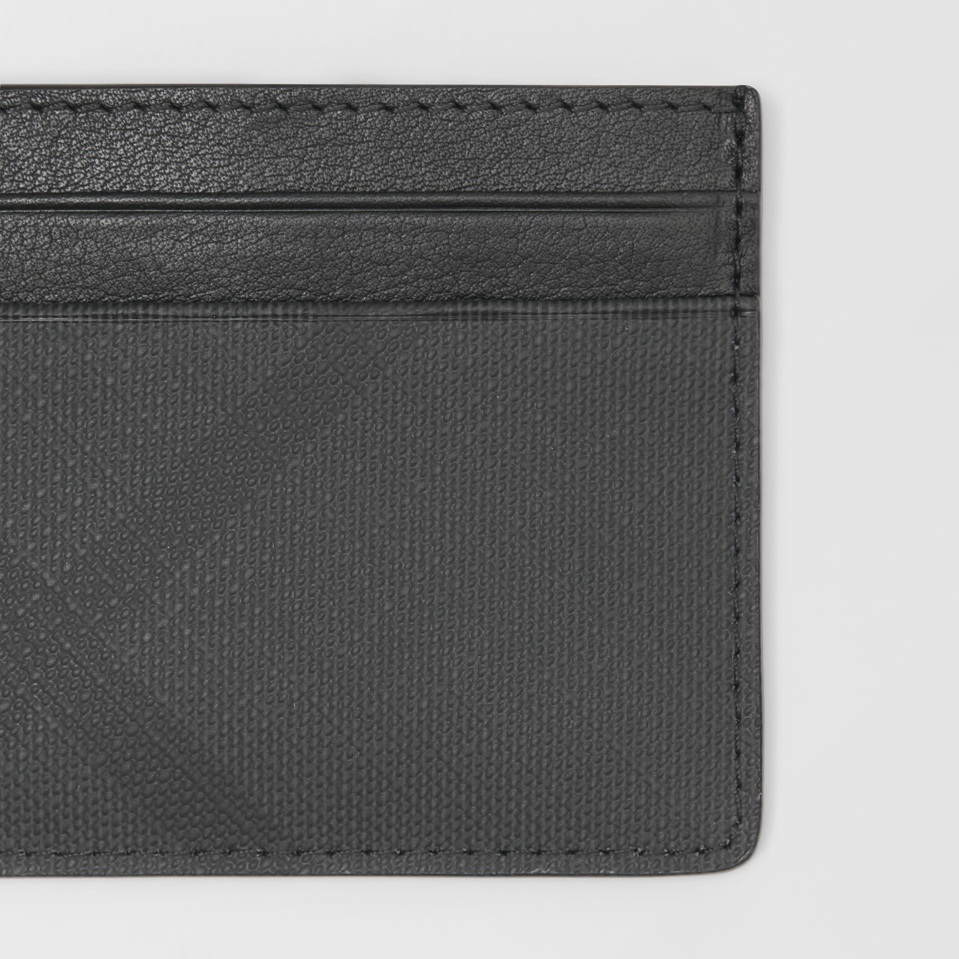 London Check and Leather Card Case in Dark Charcoal - Men | Burberry - gallery image 1