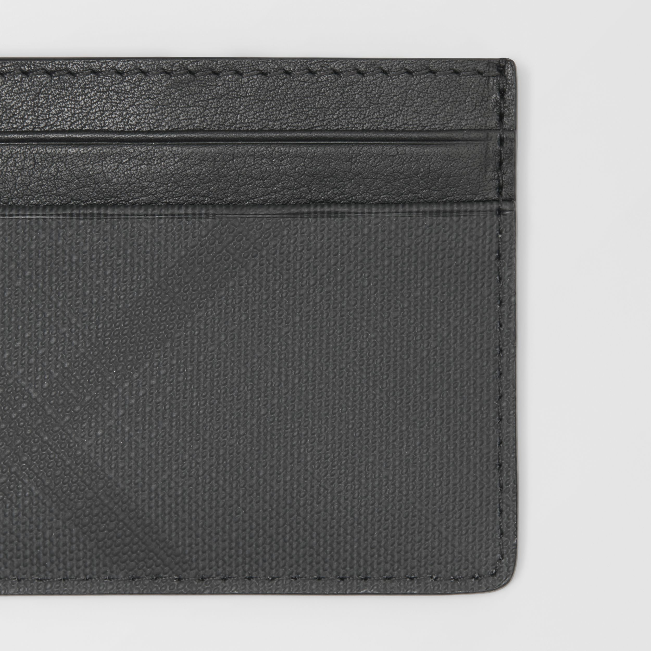 London Check and Leather Card Case in Dark Charcoal - Men | Burberry Australia - 2