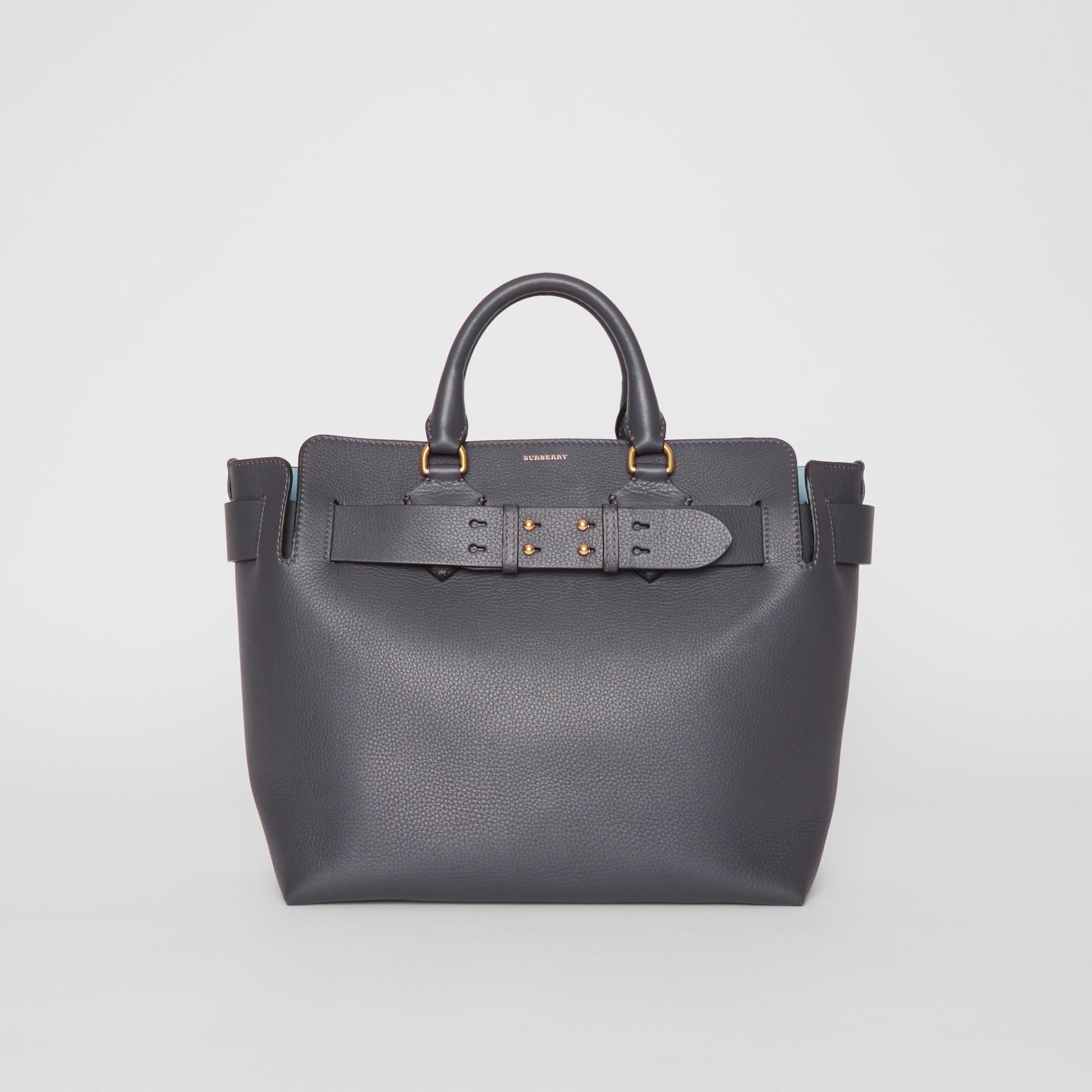 Burberry The Medium Belt Bag Aus Leder In Charcoal Grey   ModeSens 779b19ccf6