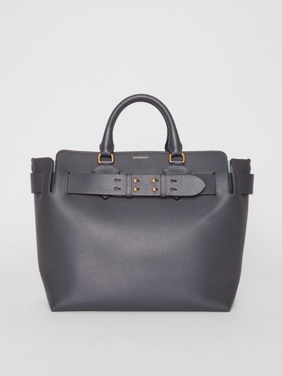 The Medium Leather Belt Bag in Charcoal Grey