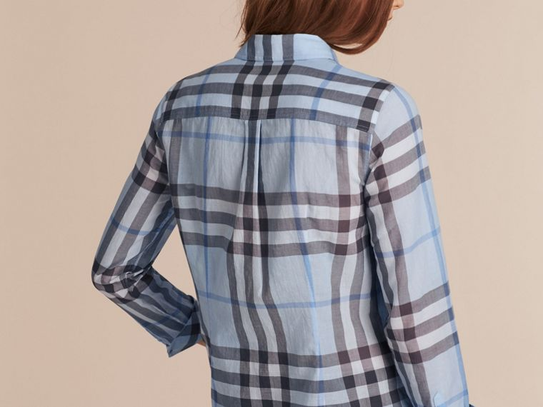 Mineral blue Check Cotton Shirt Mineral Blue - cell image 2