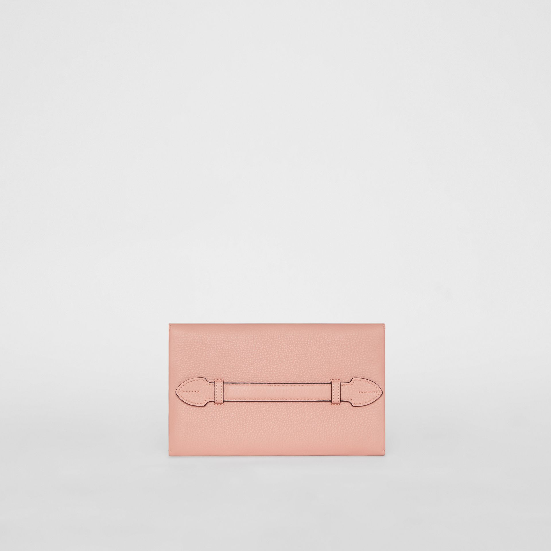 Clutch wristlet en cuir bicolore (Rose Platiné) - Femme | Burberry - photo de la galerie 6