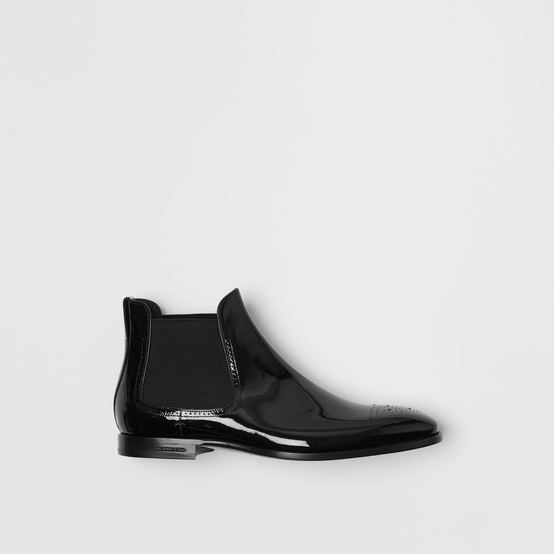 Bottines Chelsea en cuir poli (Noir) - Homme | Burberry - photo de la galerie 0