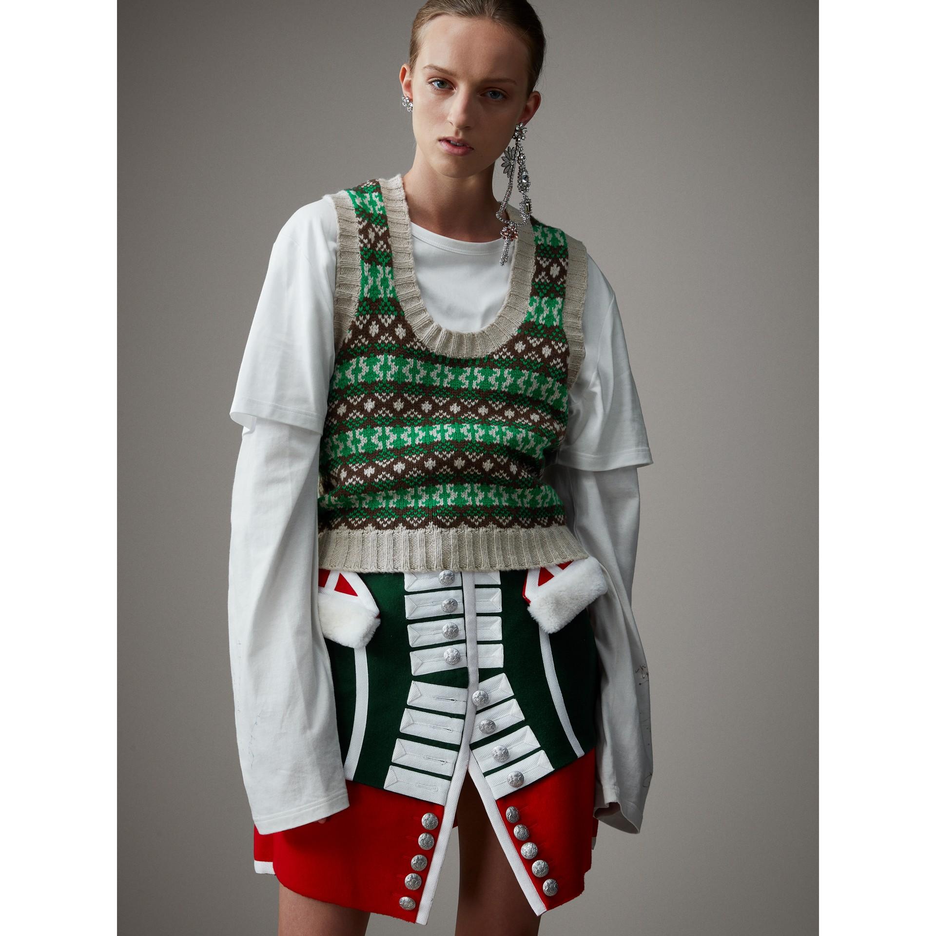 Pullunder aus Kaschmir und Wolle im Fair Isle-Design (Hellgrün) - Damen | Burberry - Galerie-Bild 5
