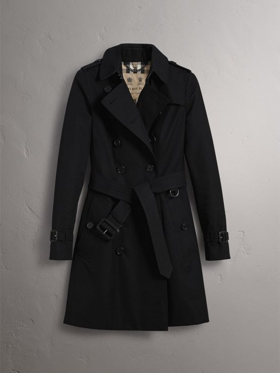 The Chelsea – Mid-length Heritage Trench Coat in Black - Women | Burberry - cell image 3
