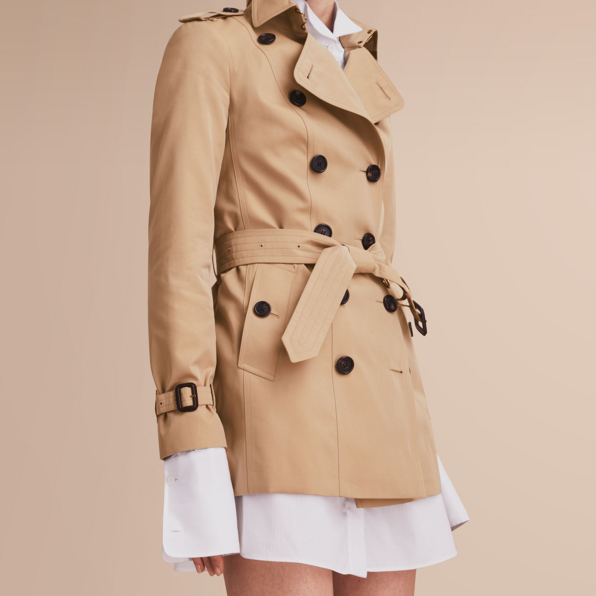 The Sandringham – Short Heritage Trench Coat Honey - gallery image 6