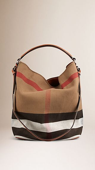 Sac The Ashby medium à motif Canvas check avec cuir