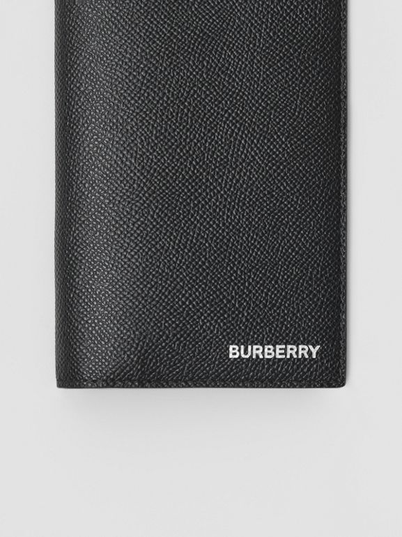 Portefeuille continental en cuir grainé (Noir) - Homme | Burberry Canada - cell image 1