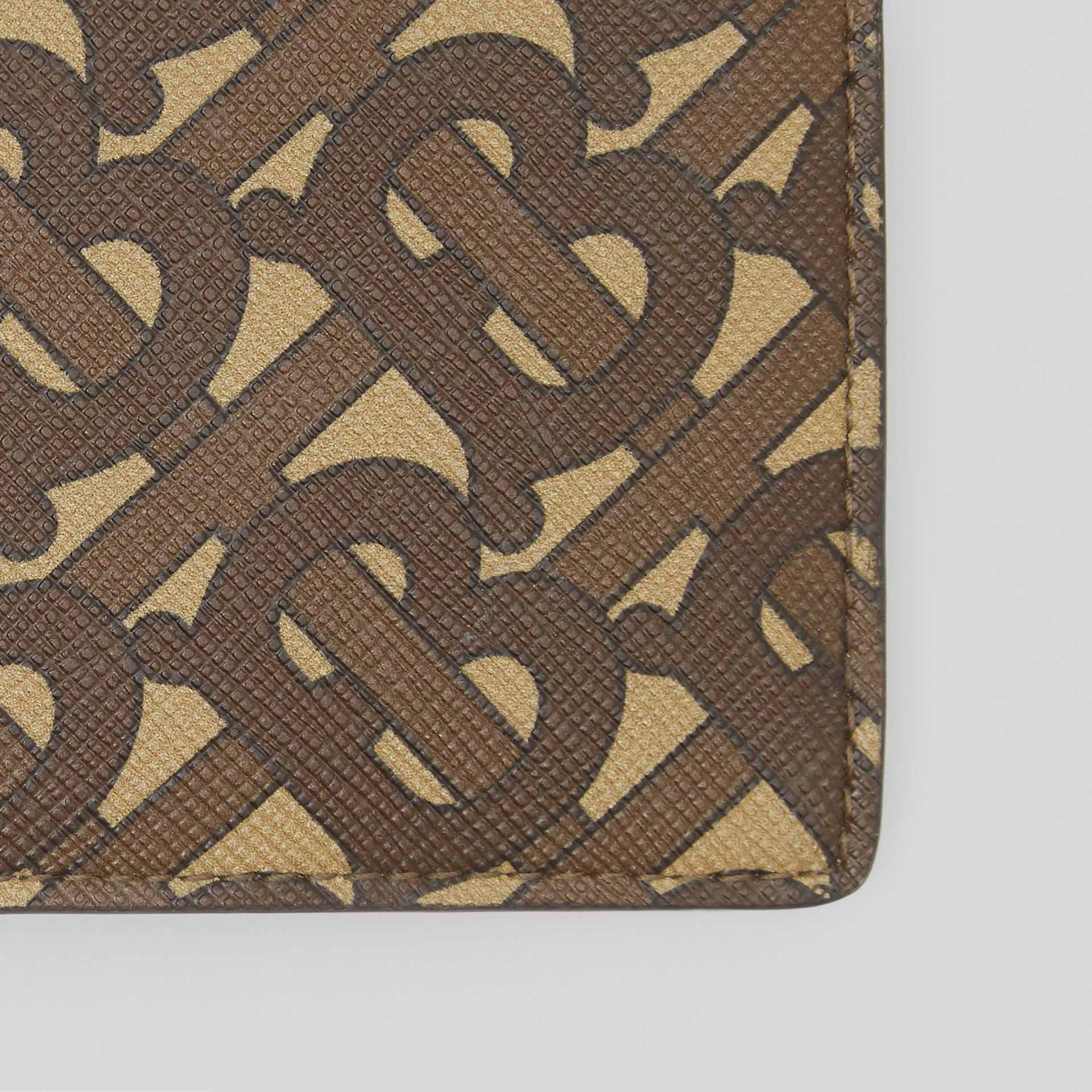 Monogram Print E-canvas International Bifold Wallet in Bridle Brown - Men | Burberry United Kingdom - gallery image 1