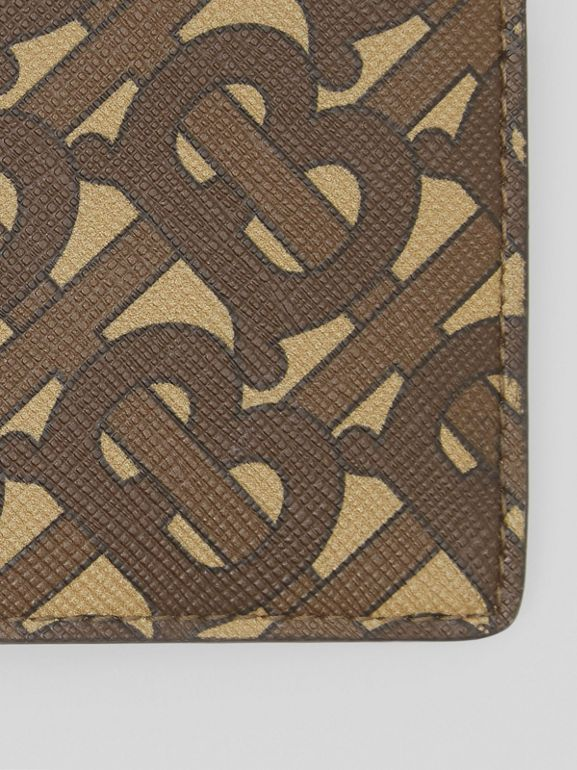 Monogram Print E-canvas International Bifold Wallet in Bridle Brown - Men | Burberry United Kingdom - cell image 1