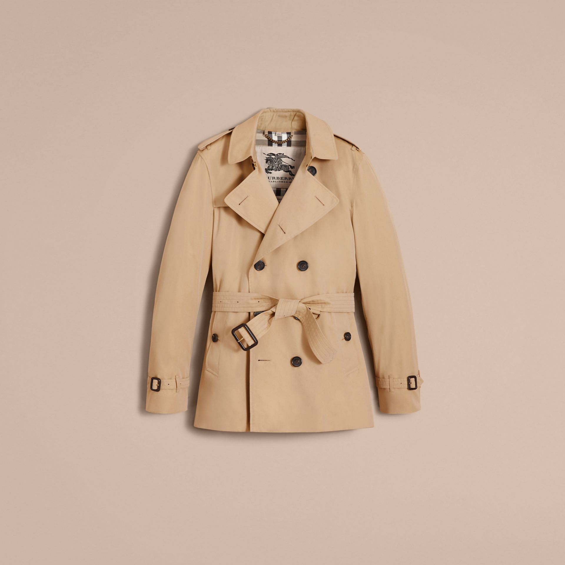 The Kensington – Short Heritage Trench Coat Honey - gallery image 4